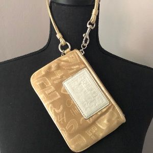 Coach Poppy Gold Wristlet